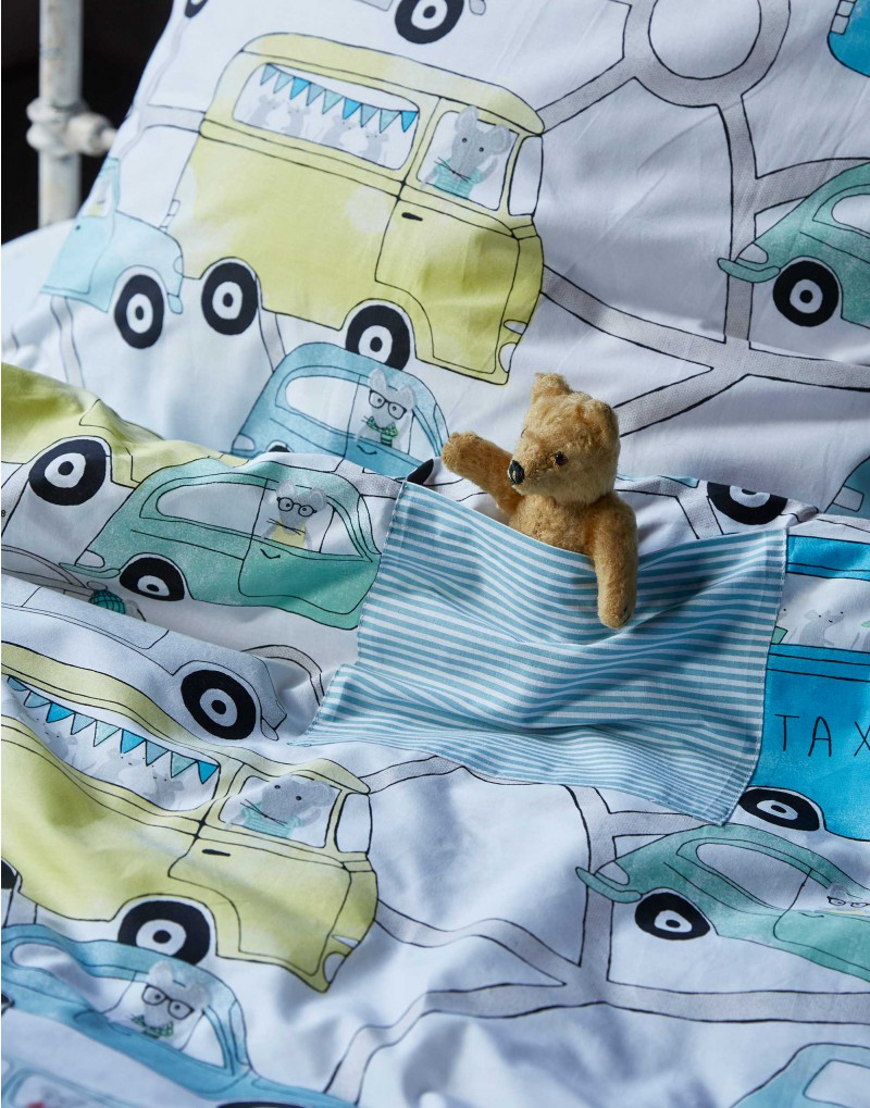 Sengetøj med biler fra Covers & co