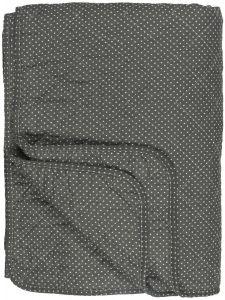 Ib Laursen quiltet tæppe - Oliven m/miniprikker