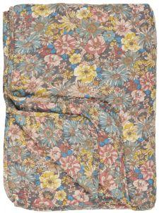 Ib Laursen  quiltet tæppe -  M/blomster