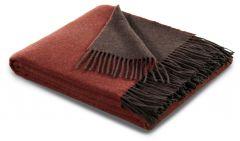 Biederlack uld/cashmere plaid 130x170 cm. - Rust/Braun