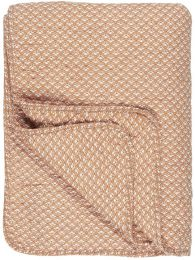 Ib Laursen quiltet tæppe - Sunset m/hvidt mønster