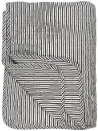 Ib Laursen quiltet tæppe - Hvide og sorte striber