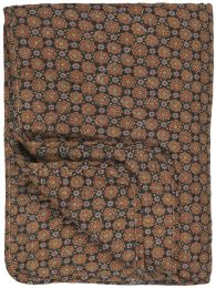 Ib Laursen quiltet tæppe - Sort m/blomstermønster i rustfarver