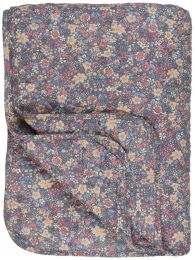Ib Laursen  quiltet tæppe - Lavendel m/blomster