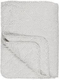 Ib Laursen quiltet tæppe - Hvid m/sorte prikker