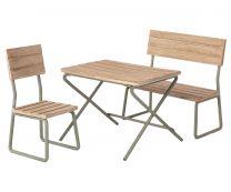 Maileg ´Havesæt´ - Bord m/ stol og bænk
