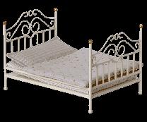 Maileg vintage seng, Micro - Råhvid