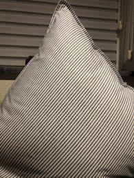 Boräs cotton ´Cille´ sengetøj 140x200 cm - Blå/hvid