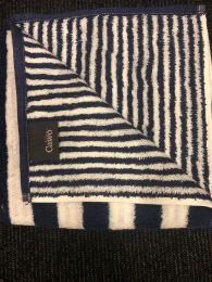 Cawö stribet håndklæde 70x140 - Marine/hvid
