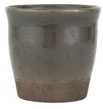 Ib Laursen skjuler m/ krakeleret glasur H 16,5 cm - Brune nuancer