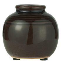 Ib Laursen  vase m/riller mini - Brun