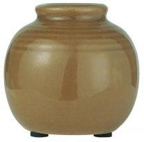 Ib Laursen  vase m/riller mini - Lys brun