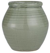 Ib Laursen skjuler m/riller og krakeleret glasur - Støvet grøn