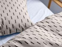 Södahl ´Graphic´ sengetøj 140x200 cm - Råhvid/off-white