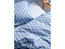 Södahl ´Graphic´ sengetøj 140x200 cm - Sky blue/blå