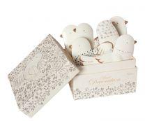 Maileg  ornamenter i æske 6 stk - Fugle