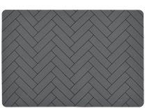Södahl ´Tiles´ silikone dækkeserviet 33x48 cm - Grå