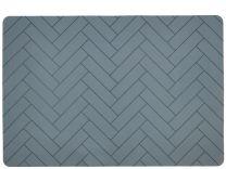 Södahl ´Tiles´ silikone dækkeserviet 33x48 cm - China blue