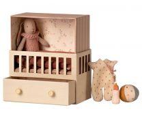 Maileg Babyroom - Micro bunny/Lyserød