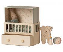 Maileg Babyroom - Micro rabbit/Lyseblå