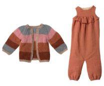 Maileg Jumpsuit/strikket cardigan str 5