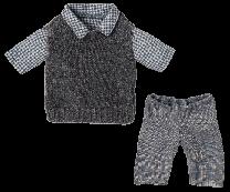 Maileg bluse, slipover og bukser til Teddy Far