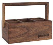 Ib Laursen Proviant kasse m/5 rum - Akacietræ