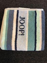 Joop ´Lines stribet´ doublfaced håndklæde  80x150 cm - Blå/Turkis/Grå