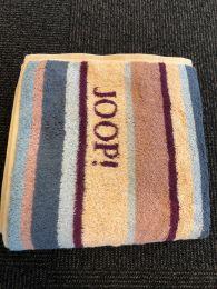 Joop ´Lines stribet´ doublfaced håndklæde  80x150 cm - Blå/lavendel/beige