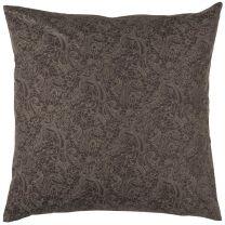 Ib Laursen pyntepude 50x50 cm - Mørkebrun m/grå paisleymønster