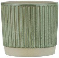 Ib Laursen skjuler m/riller H 10,5 cm - Støvet grøn