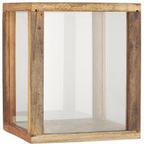 Ib Laursen displaykasse m/4 glassider UNIKA - H30 cm