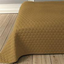 Pönt by pagunette ´Pantomime´ sengetæppe 140x220 - Sennepsgul