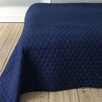 Pönt by pagunette ´Pantomime´ sengetæppe 220x260 - Marineblå
