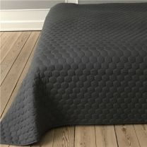 Pönt by pagunette ´Pantomime´ sengetæppe 140x220 - Grå