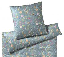 Elegante ´Potpourri´ sengetøj 135x220 - Støvet grøn
