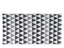 Villa Collection PVC måtte 70x140 cm - Sort/hvid