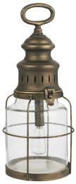 LED-lanterne m/gitter om glasset - Lille