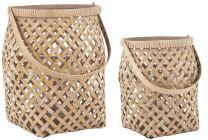 Ib laursen bambus lygte m/glasindsats - Lille