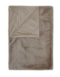 Essenza ´Furry´ plaid 150x200 cm - Taupe