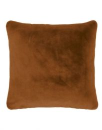 Essenza ´Furry´ pyntepude 50x50 cm - Leather brown