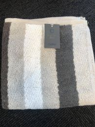 Cawö  ´Heritage stripes´ håndklæde 50x100 cm - Grå/hvid/brun