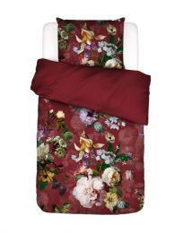 Essenza ´Fleurel´ flonel sengesæt 140x220 cm - Wine red