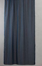 Compliments ´Lines´ bruseforhæng m/kouser 140x200 cm - Deep Blue/mørkeblå