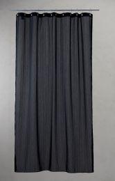 Compliments ´Lines´ bruseforhæng m/kouser 140x200 cm - Sort