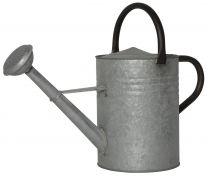 Ib Laursen rund vandkande - Zink m/spreder og sort håndtag
