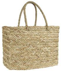 Ib Laursen strandtaske, lige sider - søgræs