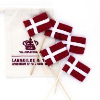 Langkilde & Søn lagkageflag af stof 5 stk.