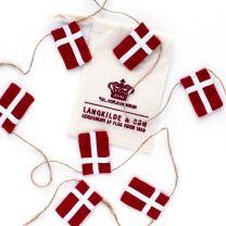 Langkilde & Søn lille flagranke med 10 dannebrogsflag