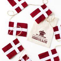 Langkilde & Søn stor flagranke med 10 dannebrogsflag